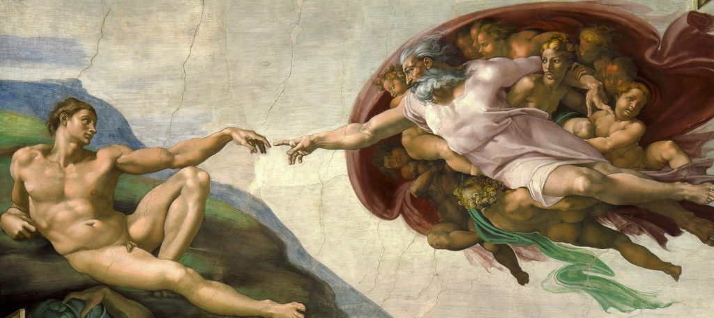 I count 12 cherubs in this painting by Michaelangelo atop the Sistine Chapel. Interesting to think about how literal we can take things if we want.