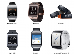 Samsung's 6 different smart watches in 2 years