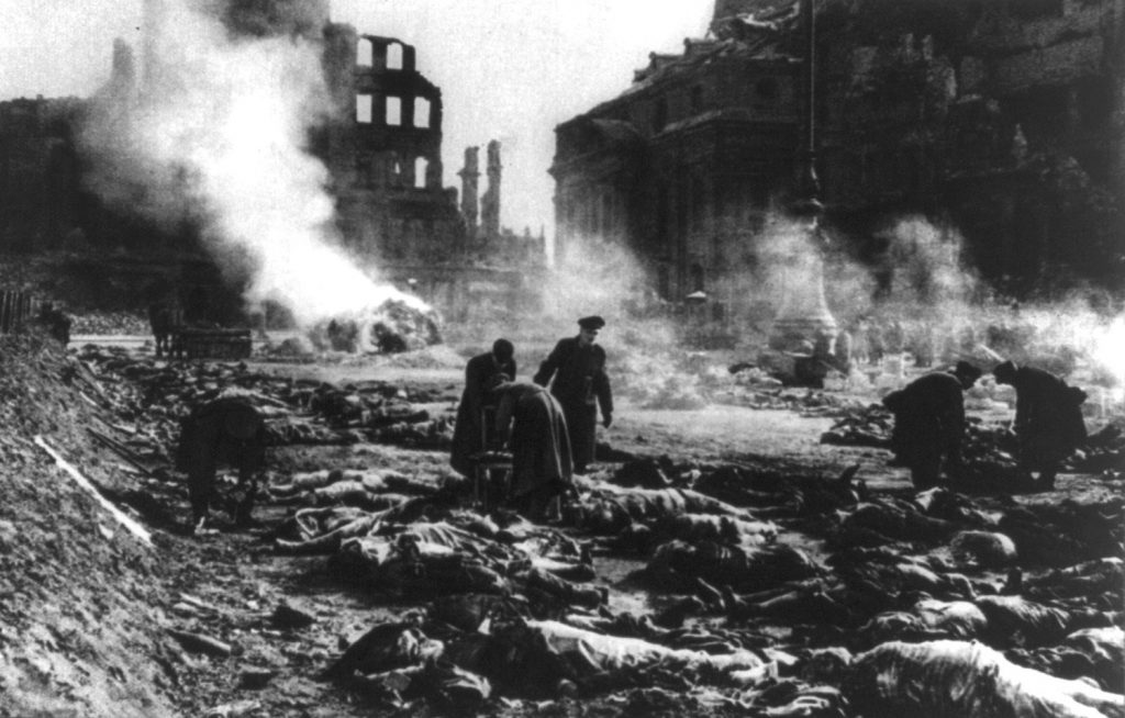 The bombing of Dresden, Germany.