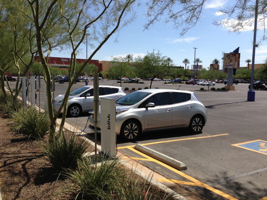 There are 4 of these chargers in this one mall. The other two are on the North side, while these are on the South.
